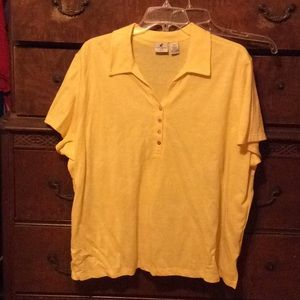 Caribbean Joe Tops - Caribbean Joe yellow top size 2X